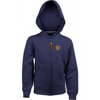 Sweat Toledo full zipper Unisex Navy/Orange