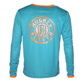 Warming T-Shirt longues manches Aqua/Orange