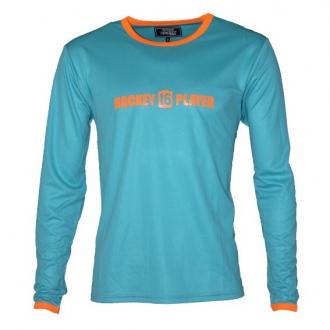 Warming T-Shirt longues manches Aqua/Orange