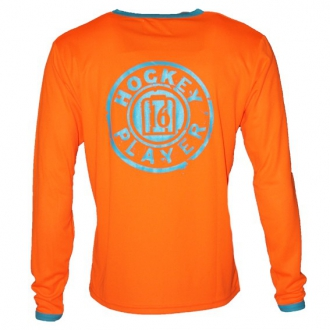 Warming T-Shirt longues manches Orange/Aqua