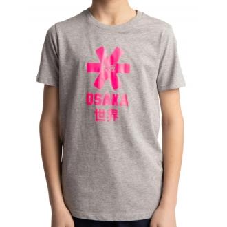 Deshi Tee Pink Star - Heather Grey