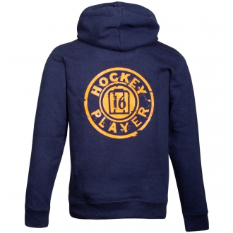 Sweat Toledo full zipper Kids Navy/Orange
